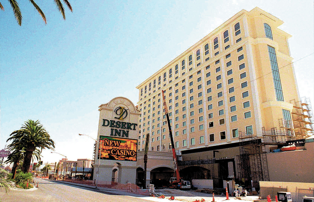 The $190 million remodeling and expansion continues on the Desert Inn Resort and Casino, Monday, Aug. 4, 1997, in Las Vegas. ITT Corp., which owns the Strip resort, has sold part of its stake to i ...