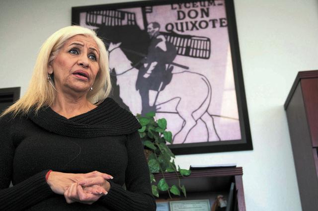 Esperanza Montelongo, owner of Aztec Insurance, speaks about the Nevada driver authorization cards during an interview at Aztec Insurance in Las Vegas Saturday, Dec. 28, 2013. (Erik Verduzco/Las V ...