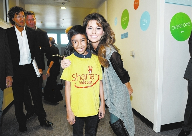 Singer Shania Twain spoke to students at Tom Williams Elementary School in October as part of her Shania Kids Can charity organization. (Courtesy Denise Truscello)