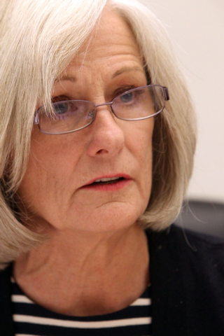Nevada Supreme Court Chief Justice Kristina Pickering discusses the creation of an appellate court during an editorial board meeting at the Review-Journal, Wednesday, March 6, 2013. (Jerry Henkel/ ...