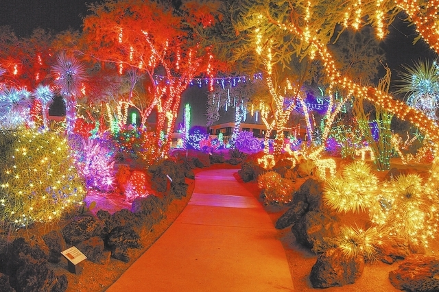 Ethel M will light its 500,000 Christmas lights for the 20th time at 5 p.m. Tuesday. (Courtesy)