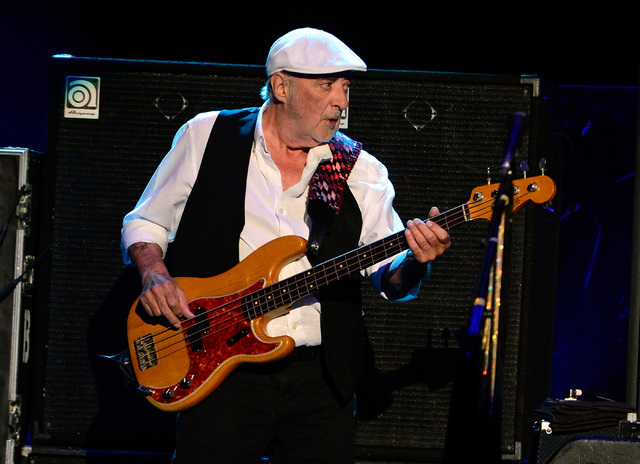 Bassist John McVie of Fleetwood Mac performs at the MGM Grand Garden Arena on Monday, Dec. 30, 2013. (David Becker/Las Vegas Review-Journal)