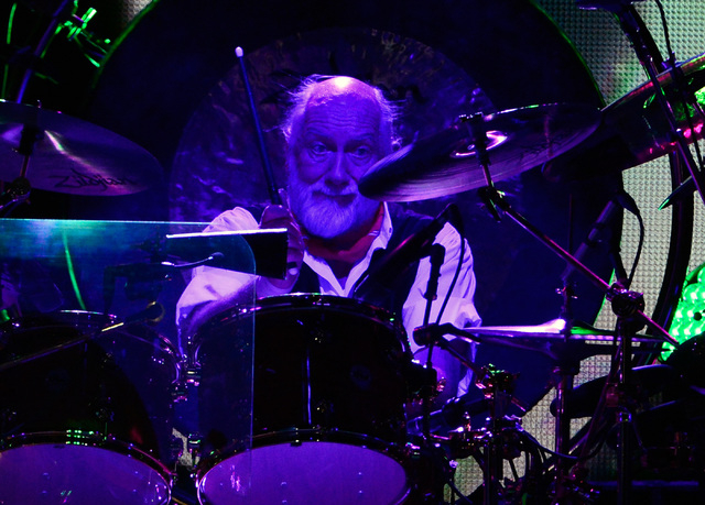 Drummer Mick Fleetwood of Fleetwood Mac performs at the MGM Grand Garden Arena on Monday, Dec. 30, 2013. (David Becker/Las Vegas Review-Journal)