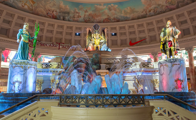 "In ""The Atlantis Show"" in the Forum Shops at Caesars, you can watch King Atlas and his dysfunctional offspring, Alia and Gadrius, sink the whole kingdom of Atlantis. (Courtesy/Jeff Green)"