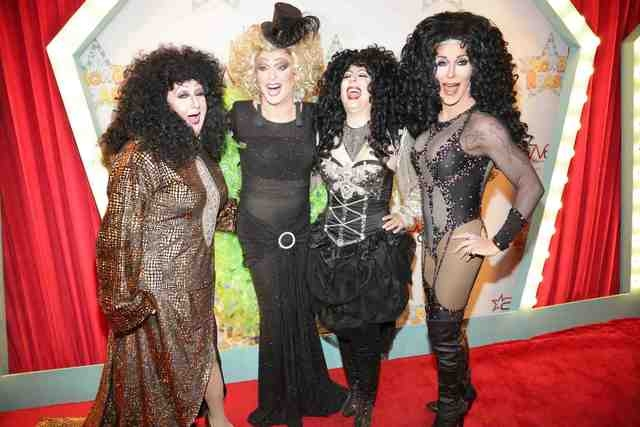 "Frank Marino with Cher impersonators at October's ""Showbiz Roast"" of Marino. (Courtesy/Ed Graff/Stardust Fallout Media)"