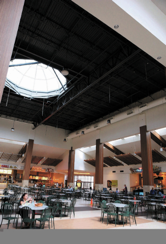 People dine in the Food Court that is currently under renovation at Galleria Mall Thursday, Sept. 13, 2013, in Henderson, Nev. Galleria Mall is currently in the midst of a $7 million renovation th ...