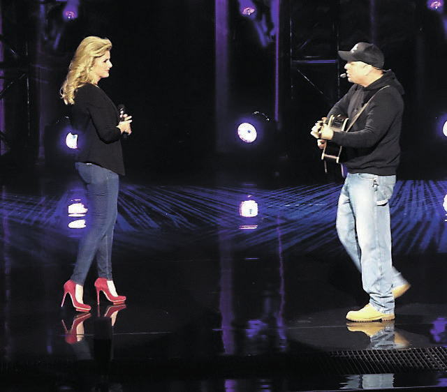 Garth Brooks' two-hour CBS special at the Wynn Las Vegas was the biggest show on television Friday. His wife, country star Trisha Yearwood, also appeared on the program. (Norm Clarke photo)