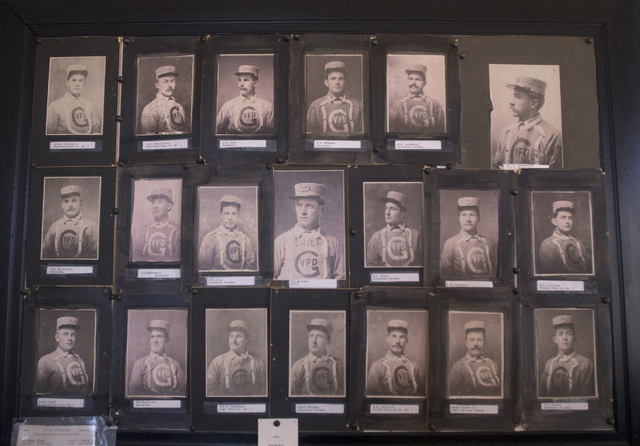 Pictures of the Goldfield volunteer fire department from 1907 sit in the judge's chambers at the Goldfield courthouse. The fire department had more than 50 men at the turn of the twentieth century ...