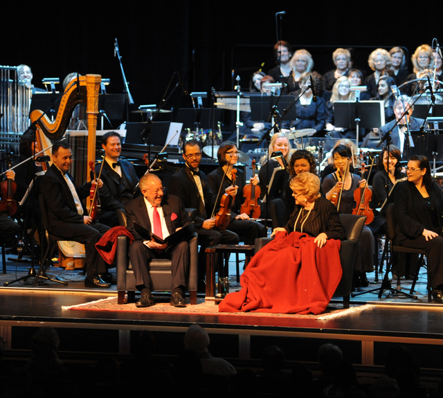 """Oscar Goodman and Mayor Carolyn Goodman return to perform with the Las Vegas Philharmonic during Saturday's """"We Love the Holidays"""" concert. (Courtesy)"""
