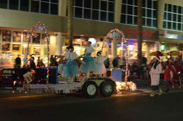 Ballet dancers perform in the Henderson WinterFest evening parade Dec. 14, 2013. (Ginger Meurer/Las Vegas Review-Journal)