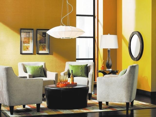 Energy Efficient Living Room Lighting from LampsPlus.com