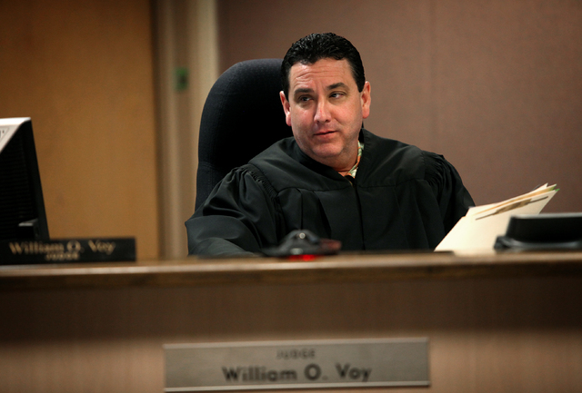 Judge William O. Voy appears in sexually exploited youth court in Las Vegas on Apr. 24, 2013. (Jessica Ebelhar/Las Vegas Review-Journal)