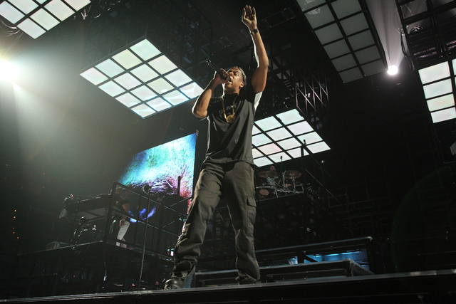 Jay-Z performs at the Mandalay Bay Events Center in Las Vegas Friday, Dec. 13, 2013. (K.M. Cannon/Las Vegas Review-Journal)