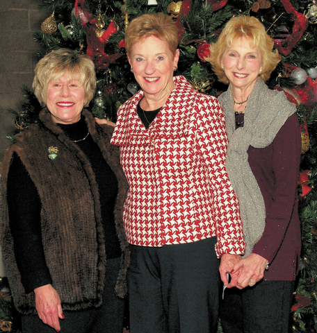 Sally McKinney, from left, Bonnie Bryan and Lou Gamage