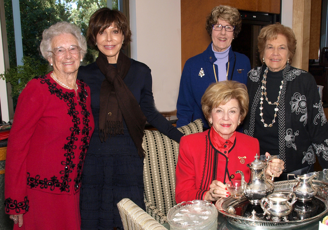 Donna Andress, from left, Madeleine Andress, Nancy Gasho Fromm, Thalia Dondero, and seated, Hope Anstett