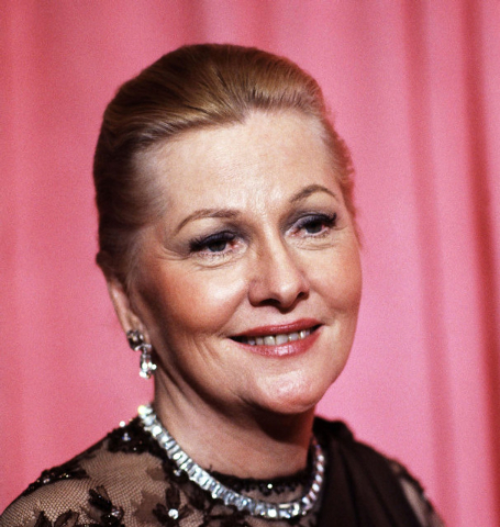 Actress Joan Fontaine, shown in 1978 at the 50th Annual Academy Awards, has died. Longtime friend Noel Beutel says she died in her sleep in her Carmel home on Sunday. She was 96. (AP Photo/File)