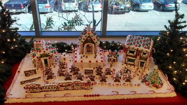This village created by Mary Curran represents the folk at Keating Dental.