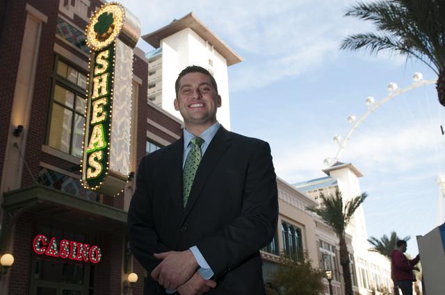 Jason Frese, general manager at O'Sheas casino in Las Vegas, poses for a portrait Friday, Dec. 27, 2013. (Erik Verduzco/Las Vegas Review-Journal)
