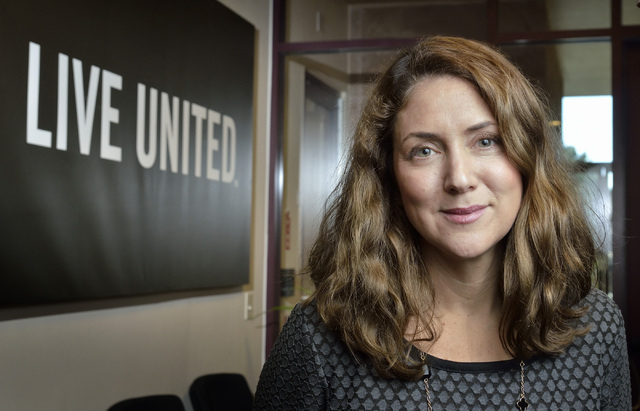 Vanessa Maniago, vice president for branding and marketing at United Way of Southern Nevada, poses in the organization's offices at 5830 W. Flamingo Road on Wednesday, Dec. 11, 2013. (Bill Hughes/ ...