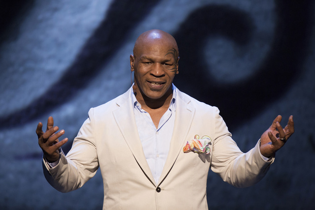 """Mike Tyson appears in an HBO performance of """"Undisputed Truth."""" (Courtesy, HBO)"""