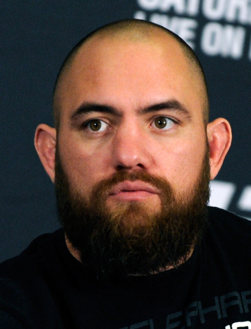 MMA fighter Travis Browne attends the UFC168 news conference at the MGM hotel-casino on Thursday, Dec. 26, 2013. Browne will fight Josh Barnett in a heavyweight bout on Saturday. at the MGM Grand  ...
