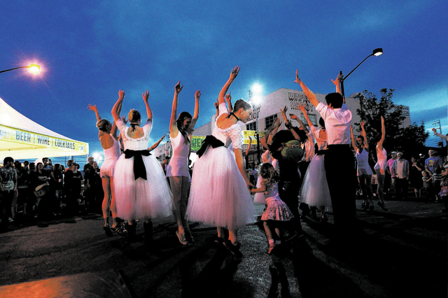 """Nevada Ballet Theatre performers dance with the crowd at the April 5, 2013, First Friday arts festival. The ballet company is set to return to the Dec. 6, 2013 festival with excerpts from """"The Nut ..."""