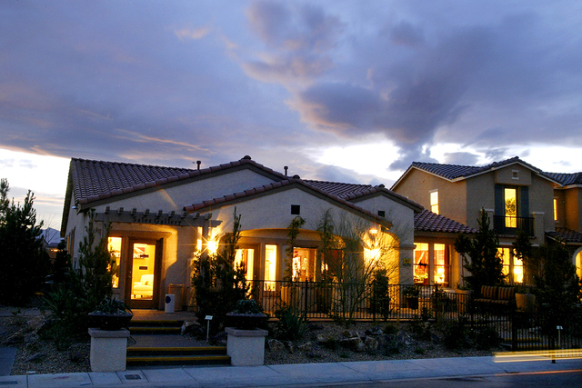 A 3,600-square-foot model home built by Pardee Homes in the Northpointe development in North Las Vegas is shown Wednesday, March 7, 2007. (SAMANTHA CLEMENS/REVIEW-JOURNAL/File)