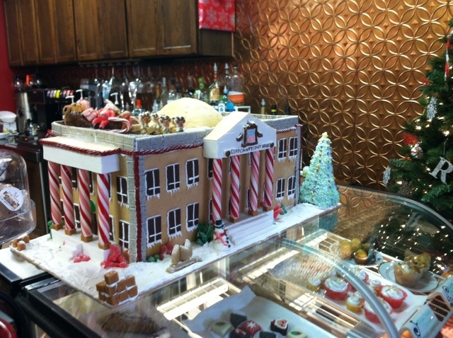 Lisa Peterson's contest submission was a replica of the Elko County Courthouse.