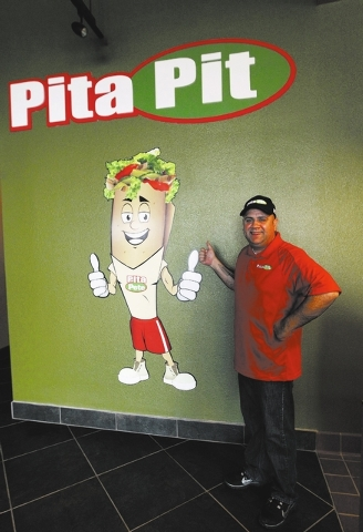Paul Sergi poses at the Pita Pit in Las Vegas, Thursday, Dec. 19, 2013. Sergi expects to open the new restaurant sometime in the first week in January, 2014. Jerry Henkel/Las Vegas Review-Journal)