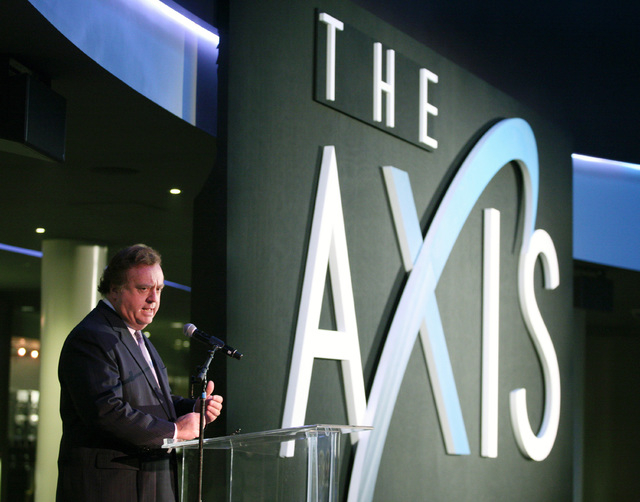 Gary Loveman, chairman of Caesars Entertainment Corp., speaks during a news conference at The AXIS at Planet Hollywood hotel-casino Thursday, Dec. 19, 2013, in Las Vegas. The AXIS, which is a 7,00 ...