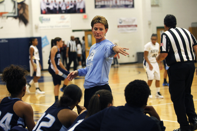 Centennial coach Karen Weitz, instructing the Bulldogs during their 69-22 victory over Shadow Ridge on Tuesday, has led Centennial to a 424-40 record and six state titles in 14 seasons after start ...
