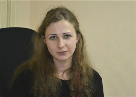Maria Alekhina, a jailed member of the Russian punk band Pussy Riot, who was found guilty of hooliganism after a performance critical of President Vladimir Putin, poses for a photo in the Committe ...