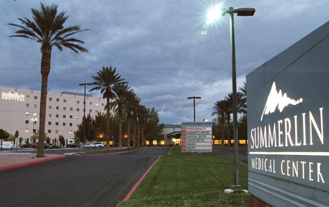 Summerlin Hospital and Medical Center is shown in this Saturday, Nov. 5, 2005 photo. (File, Todd Lussier/Las Vegas Review-Journal)