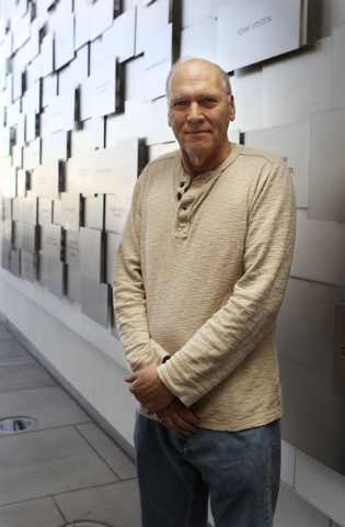 Jacob Sobotka. 65, poses at the Lou Ruvo Center for Brain Health in Las Vegas, Monday, Nov. 18, 2013. Sobotka has Parkinson's Disease and is in speech therapy with Dr. Gabiel C. Léger at the  ...