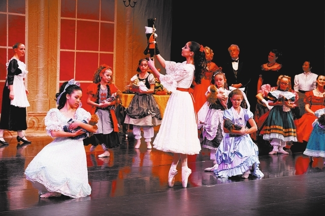 "A scene from the 2012 Nevada School of Dance production of ""The Nutcracker,"" with a cast of youngers 4 to 19. This year's production will be performed Friday and Saturday at Faith Lutheran High Sc ..."