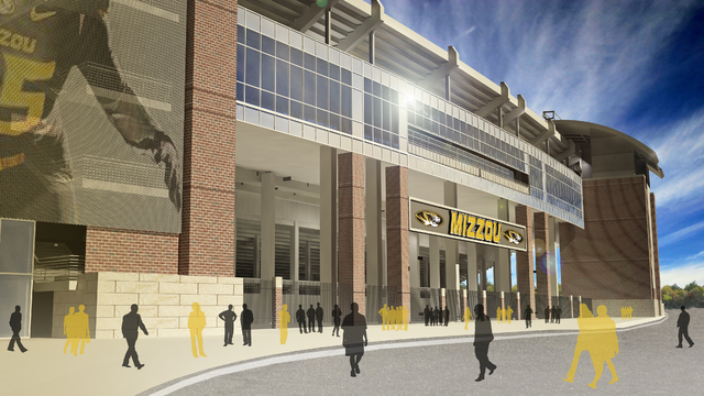 University of Missouri Faurot Field addition. (COURTESY POPULOUS)
