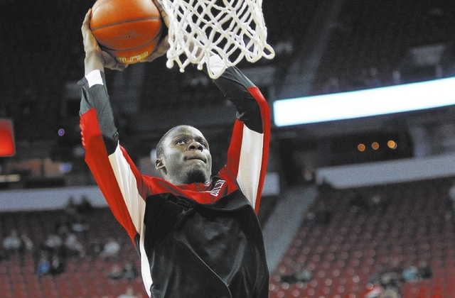 UNLV freshman Demetris Morant, shown on Nov. 8, has played 18 minutes over five games and has yet to take a shot. (John Locher/Las Vegas Review-Journal)