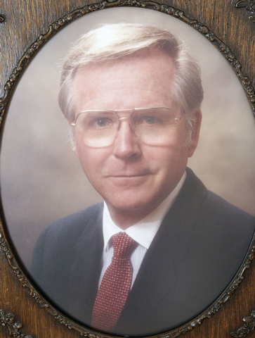 This is a photo of Bob Robinson when he was a Nevada state senator. Robinson died three weeks after being left outside in extreme heat by staff at the Nevada State Veterans Home in Boulder City in ...