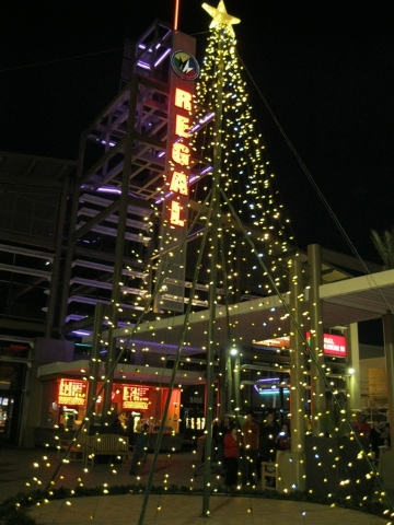 The tree is lit in front of Regal Cinemas. (Special to View)