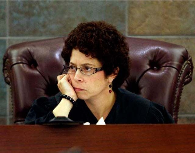 Judge Elissa Cadish watches from the bench in this 2010 file photo. Cadish received one of the top retention scores -- 87 percent -- in the Review-Journal's 2013 survey of judicial performance. (F ...