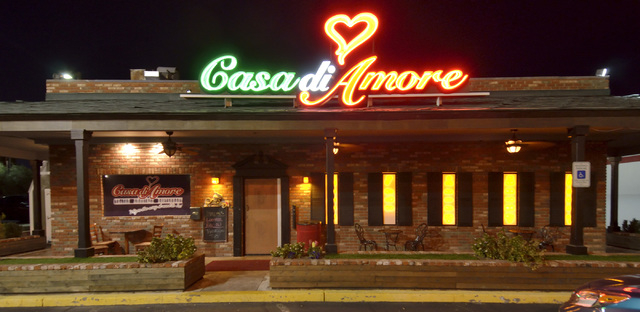 The exterior of Casa di Amore is shown at 2850 E. Tropicana Ave. in Las Vegas on Saturday, Dec. 14, 2013. (Bill Hughes/Las Vegas Review-Journal)
