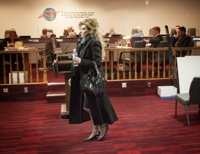 Former Deputy District Attorney Lisa Willardson after she  testified during the Nevada Commission on Judicial Discipline hearing at Las Vegas Convention Center Boardroom on Thursday, Dec. 5, 2013. ...