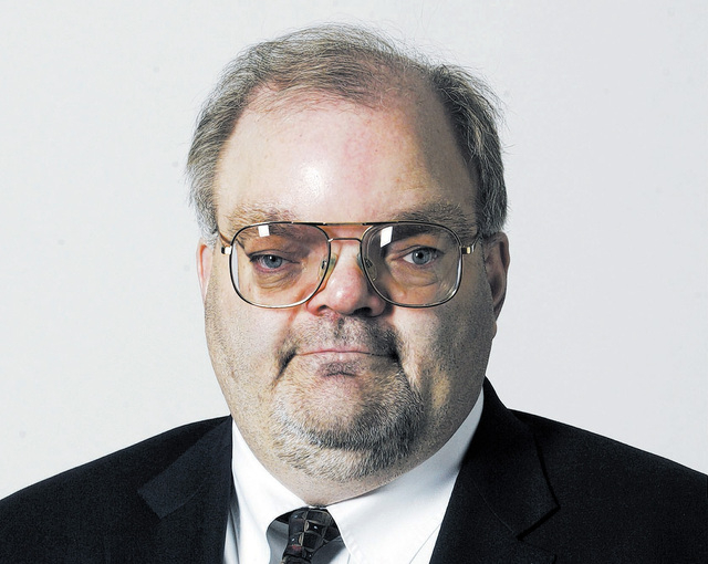 """Las Vegas Justice of the Peace Conrad Hafen, shown in this 2010 photo, was listed on the """"do not retain"""" list in the Review-Journal's 2013 survey of judicial performance. (File, Ralph Fo ..."""