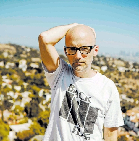 "Moby DJs Saturday at MGM's Hakkasan nightclub while promoting the new album, ""Innocents."" (Courtesy photo.)"