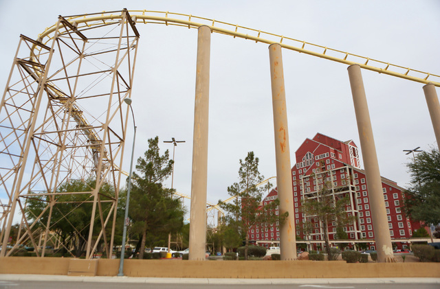Buffalo Bill's hotel-casino has a roller coaster. Primm is one mile from the California-Nevada state line and is located next to the Ivanpah Dry Lake. (Ronda Churchill/Las Vegas Review-Journal)