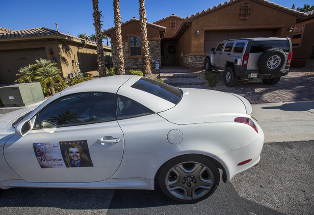 The home of  Lisa Willardson's  at  1044 Via Camelia Street in Henderson as seen on Friday, Dec. 27, 2013. Willardson, a former prosecutor whose relationship with suspended Family Court Judge Stev ...