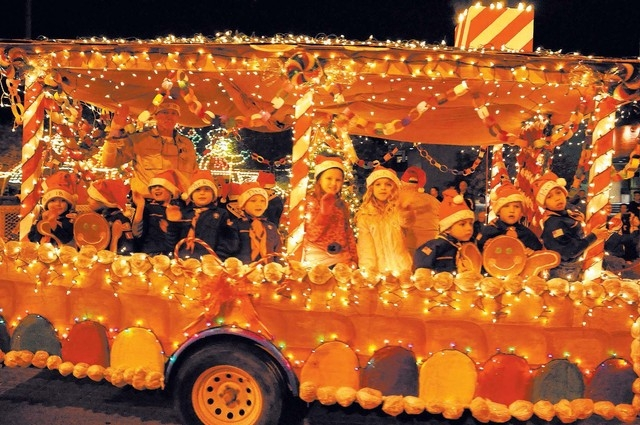 The city of Henderson's annual WinterFest celebration features a nighttime parade, featuring floats created by residents and businesses within the city. (Special to View)