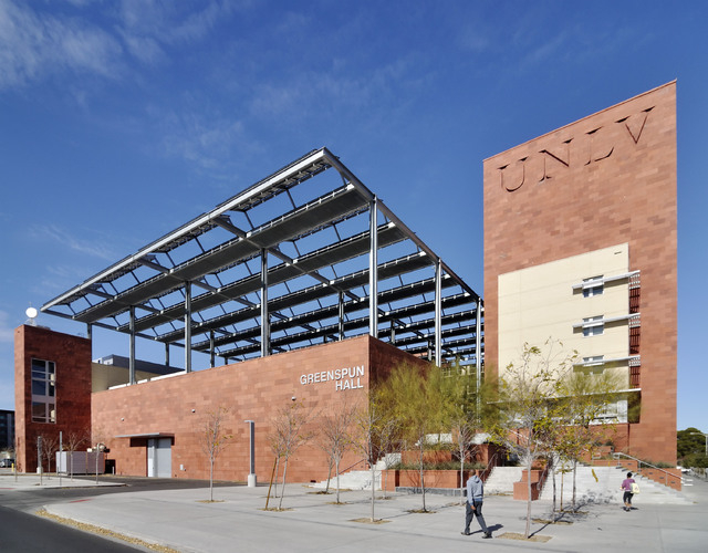 Greenspun Hall on the UNLV campus at 4505 S. Maryland Pkwy., in Las Vegas, is shown on Thursday, Jan. 12, 2012. (BILL HUGHES/LAS VEGAS REVIEW-JOURNAL)