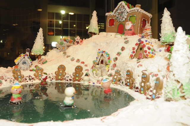 Dooley Elementary School gingerbread house from Winterfest 2012. (Courtesy)