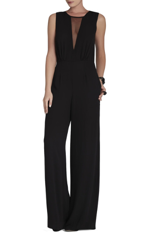 Behati Sleeveless V-Neck Jumpsuit (corresponding to first look — office) is from BCBGMaxAzria, $248, Miracle Mile Shops